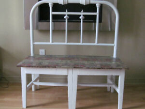 INDOOR/OUTDOOR ONE-OF-A-KIND RUSTIC BENCH