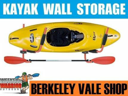 Kayak Canoe Wall Storage Rack Hook Garage Shelf 50kg Capacity