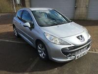 2008 (57) Peugeot 207 1.4 M:Play 3 Door Metallic Silver Group 6 insurance