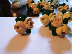 New - Ceramic Floral Cabinet Knobs for sale with screws