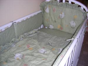 Crib sheet set + mobile