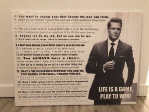 CANVAS - HARVEY SPECTER SUITS QUOTES - 40 X 30