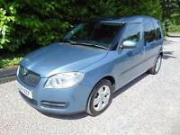 2008 58 SKODA ROOMSTER 1.6 2 16V 5D AUTO 103 BHP AUTOMATIC PETROL IN BLUE