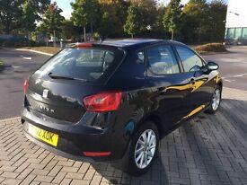 Seat Ibiza - 2012 - Black - 5door - 36,000! hatchback - Bargain!1.4, cheap tax
