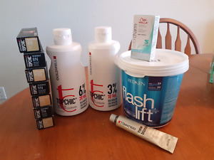 Salon hair colouring products (REDUCED PRICE)