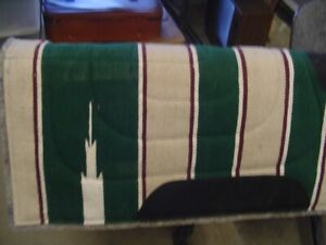 """Attractive Wool Top Horse Saddle Pad 31"""" x 32"""""""