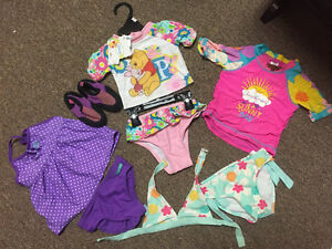 Girls 18-24 mth swimwear one brand new with tags & waters shoes