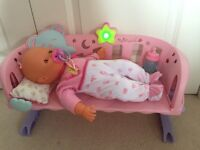 Nennuco Sleep with Me doll and cot