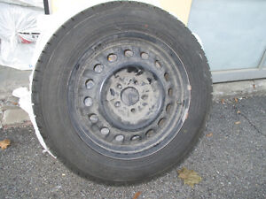 Set of 4 Winter Tires with Steel Rims included West Island Greater Montréal image 1