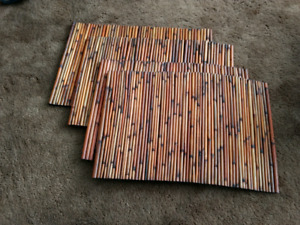 4 bamboo placemats from pier 1