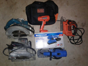 Work tools!! Drill, saws and sander!! Great prices! Brand new