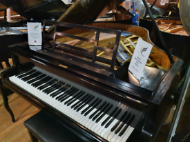 Bluthner baby grand piano black restored for sale