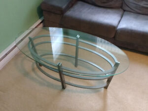 Used Scan Design Saturn Titanium Oval Cocktail Table