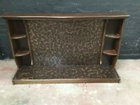 Beautiful vintage copper backed fire surround