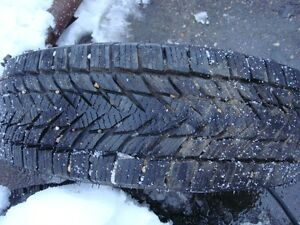 4-175 70 r13 directional snow tires on 4x100mm bolt pattern rims