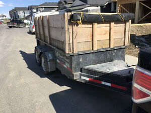 "5' x 10"" DUMP TRAILER FOR SALE DOUBLE AXEL."