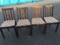 Four oak chairs free local delivery