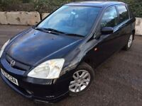 Honda Civic 1.6 petrol immaculate condition HPI clear mot 02/Aug/17