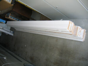 "Painted fiberboard molding 5-1/4"" x 1-3/8"" x 8 ' - 20 boards"