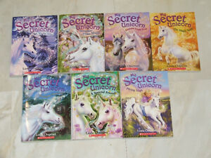 Seven different books in the 'My Secret Unicorn' series
