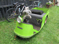 1950's Vintage Cushman Minute Miser 3 Wheel Scooter Cart Buggy