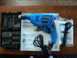 "Mastercraft Corded Hammer Drill 1/2"" - 6 amp with accessory kit"