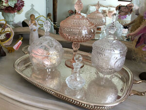 Covered Chrystal Candy Dishes