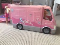 Barbie Camper Van with swimming pool and accessories