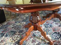 Old Italian style mahogany dining table