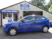 2002 02 SEAT IBIZA 1.2 12V 3D 63 BHP PART EXCHANGE TO CLEAR