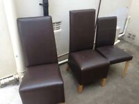 Dining chairs x3