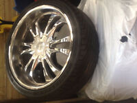 Set of 22' Rims and Tires