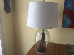 Hollow glass lamp base/shade
