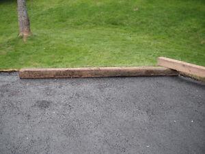 6 x 6 treated wood beams
