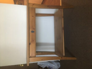 Pine desk with pull out drawer