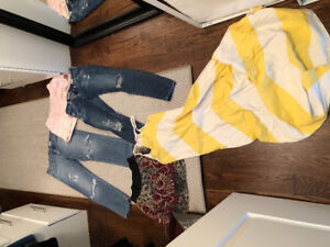 Ag jeans size 25, s club Monaco shorts, Wilfred skirt and dress