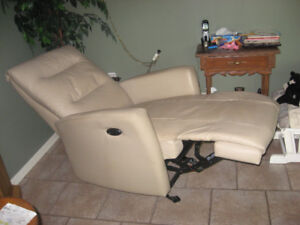 leather electric rocking lazy boy= matching chairs