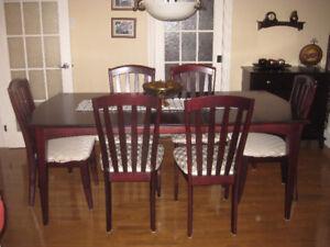 Set de cuisine en bois 6 chaises