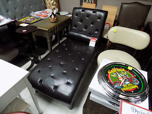 Chaise Lounge Faux Leather $ 425.00 TAX IN  727-5344