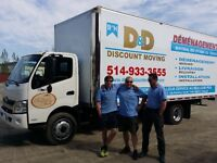 DÉMÉNAGEMENT MOVING professional SPECIAL! Truck+1-2-3-4 Movers