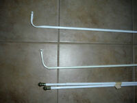3 various sized Curtain Rods ... as shown .. ready to use