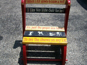 Childs Vintage Chair/ Step Stool