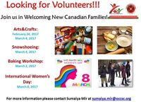 Volunteering Opportunity! - WELCOME NEW CANADIANS TO OTTAWA
