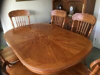 Dining Table with extension and 2 piece sideboard, no chairs as these have now been sold.