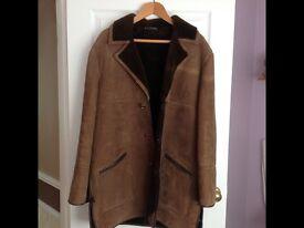Men's shade sheep skin jacket XL brown
