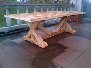 CUSTOM HAND CRAFTED FARMHOUSE HARVEST TABLES Peterborough Peterborough Area image 8