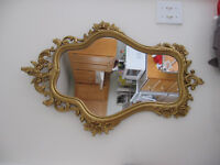 BEAUTIFUL GOLD FRAMED MIRROR-REDUCED!