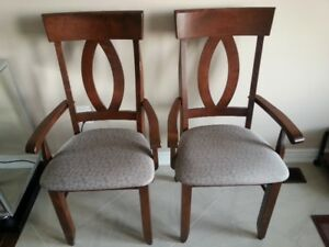 Two Brand New Canadel Solid Wood Arm Chairs