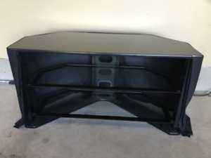 TV Stand Modern Black/Glass