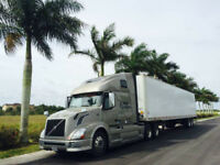 Chauffeur Class 1 Truck Driver Long Haul Canada to USA (FL, NC)